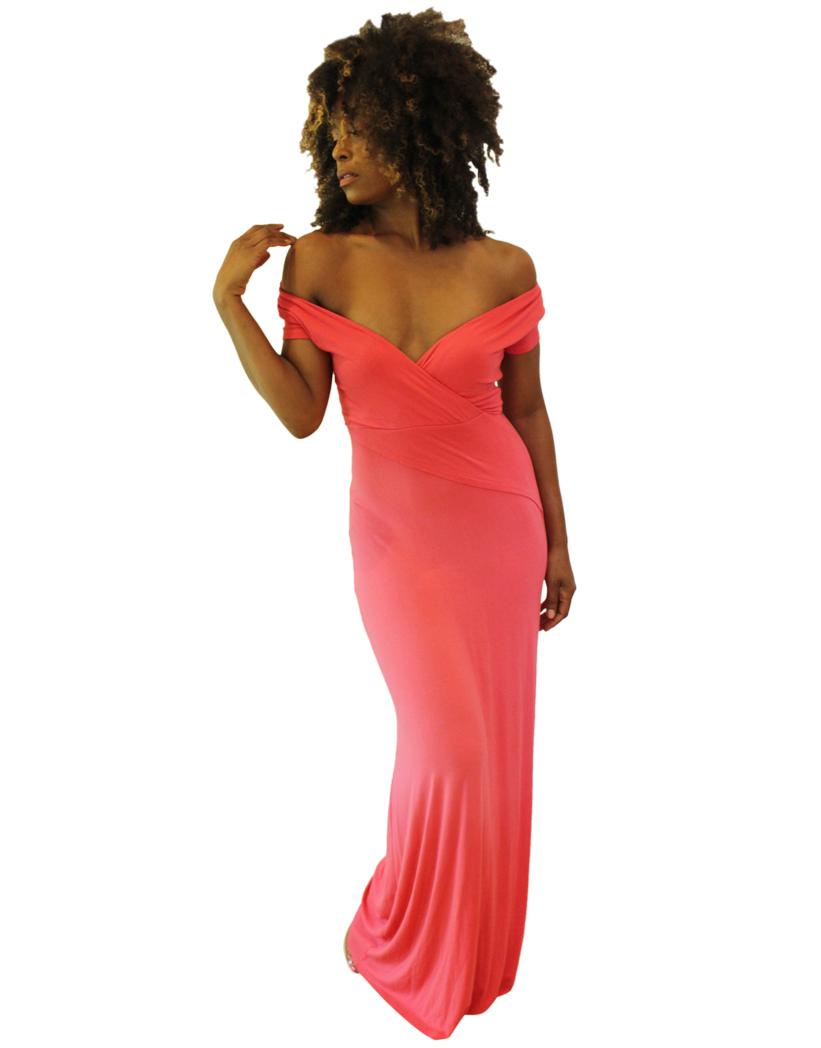 Faux Wrap Elegance Dress 1