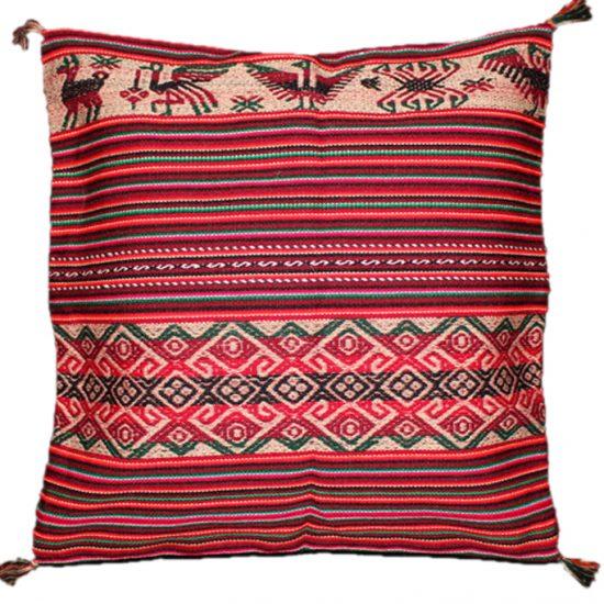 Peruvian Pillow Sham U2013 Red Aztec