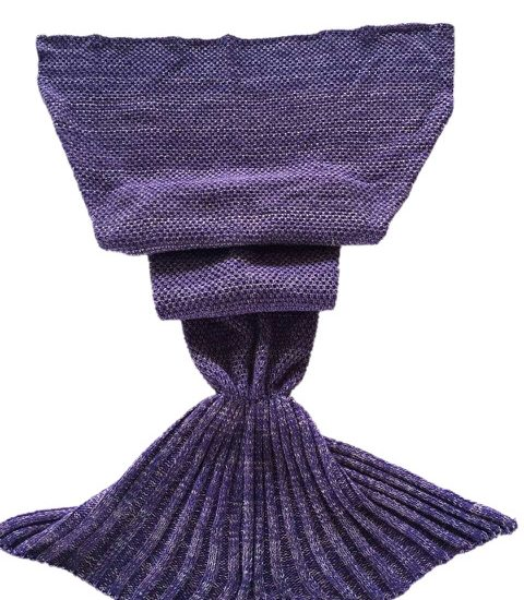 purple adult mermaid blanket
